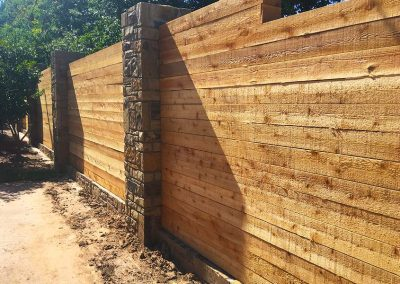 Long Lasting Brick Foundation Wood Fence