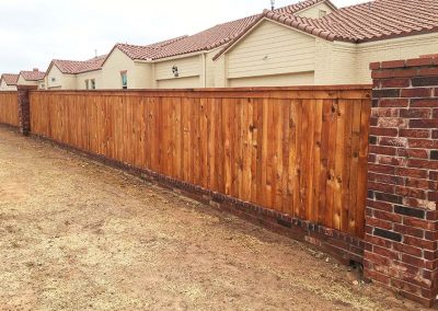 Wood Fence On Brick Foundation