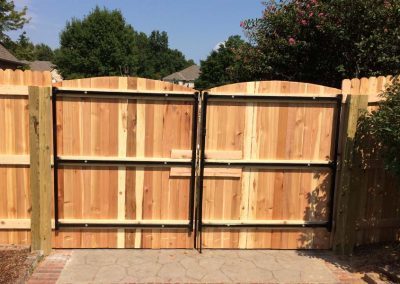 Empire Fence Wood Gate Metal Frame