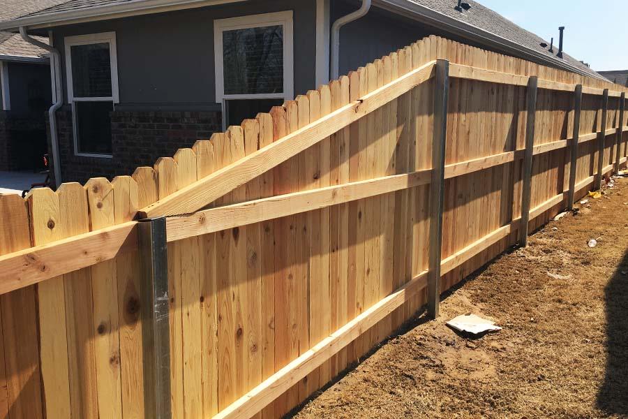 Wooden Fence Metal Posts