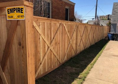 X Wooden Fence Design