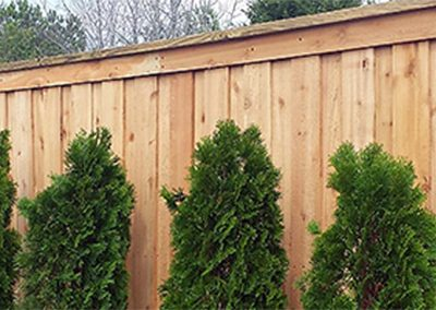 Privacy Fence Wooden Flat Top