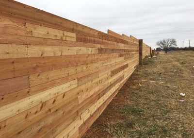 Wooden Fence on a Slope