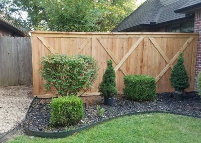 Wooden Privacy Fence Design
