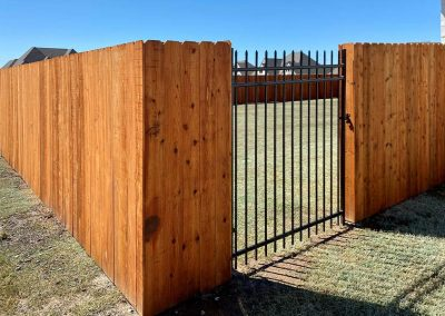 Wood Privacy Fence Metal Gate