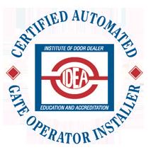 IDEA Certified Automated Gate Operator Installer