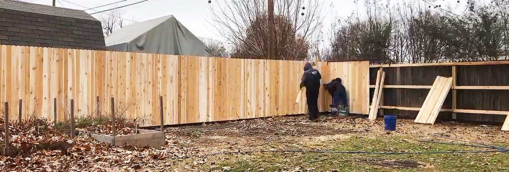 Wooden Fence Pickets Setup