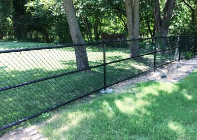 Chain Link Black Fence