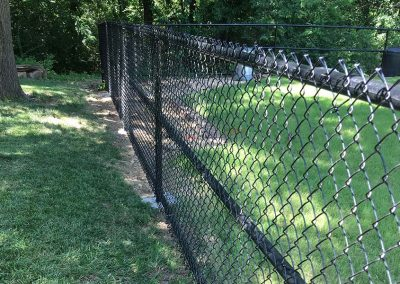Park Black Chain Link Fence