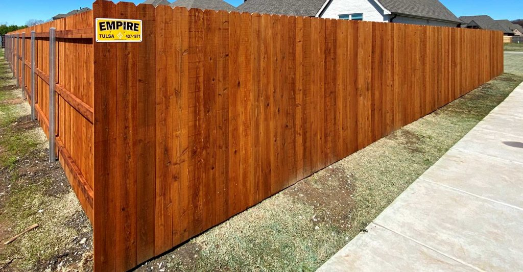 Stained Wood Fence
