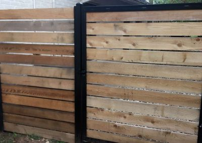 Residential Cedar Fence With Metal Frame