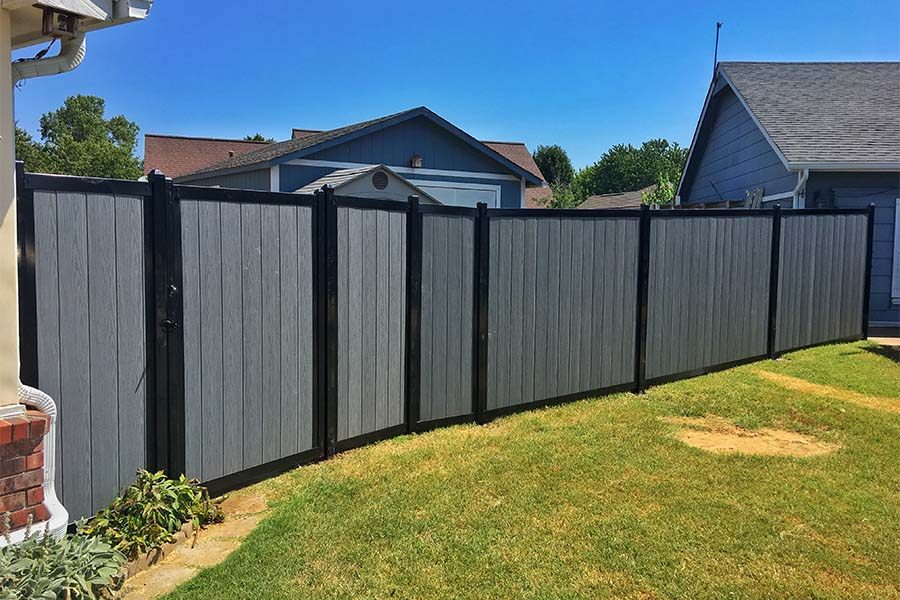 Metal Frame Wood Privacy Fence