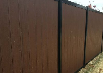 Wooden Fence Metal Framing
