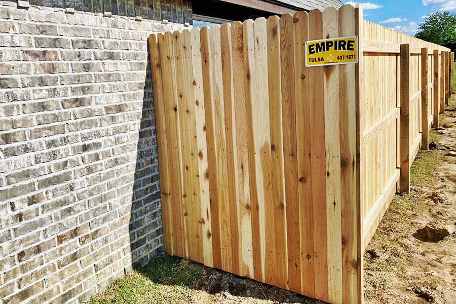 Wooden Fence Before Stain