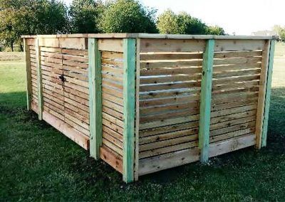 Wooden Fence Enclosure