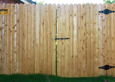 Privacy Wooden Fence Gate