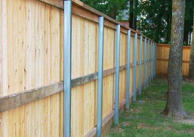 Backyard Privacy Fence Metal Posts