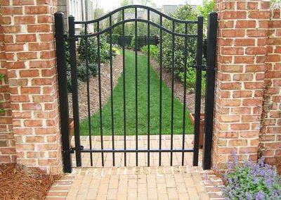 Backyard Metal Gate Opening