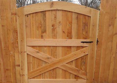 Backyard Wooden Gate Design