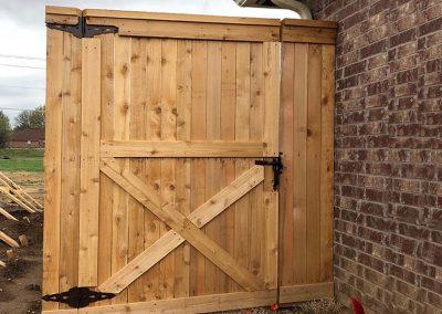 Wooden Door Backyard Fence