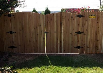 Wooden Picket Fenced Gate