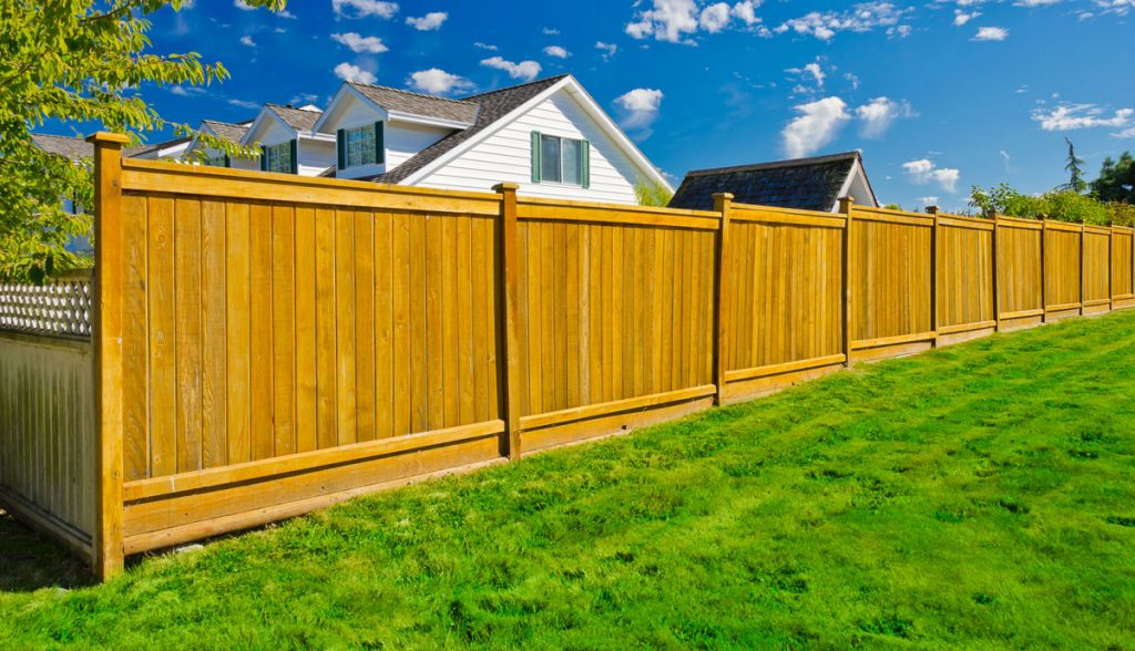 Fence on a Slope