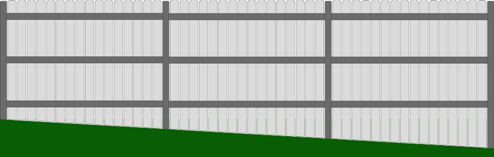 Racked Fence on a Slope Straight Top