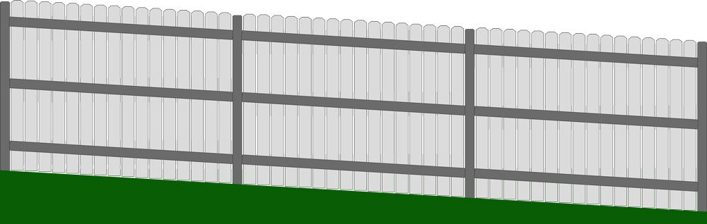 Racked Fence on a Slope