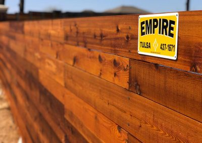 HOA Horizontal Wood Perimeter Fence
