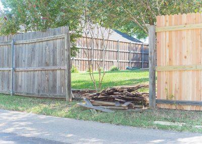 Broken Fence Panels Under Repair