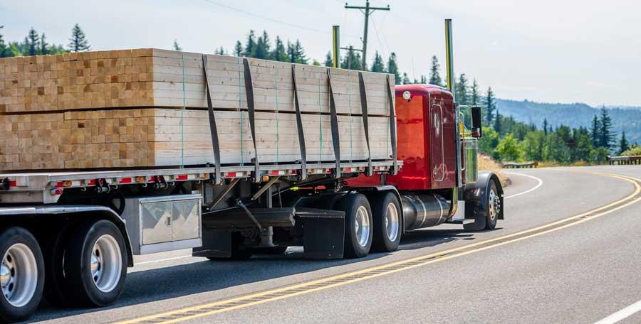 Truck Hauling Wood