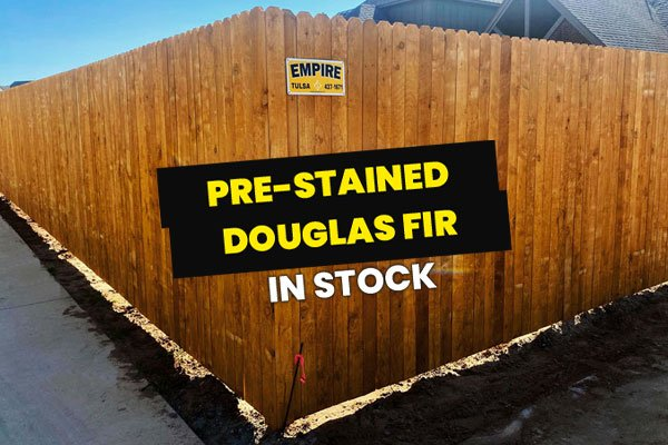 Pre-stained Douglas Fir Fence