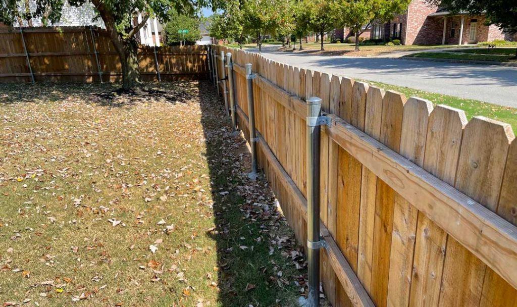 4-Foot Wooden Side Yard Fence